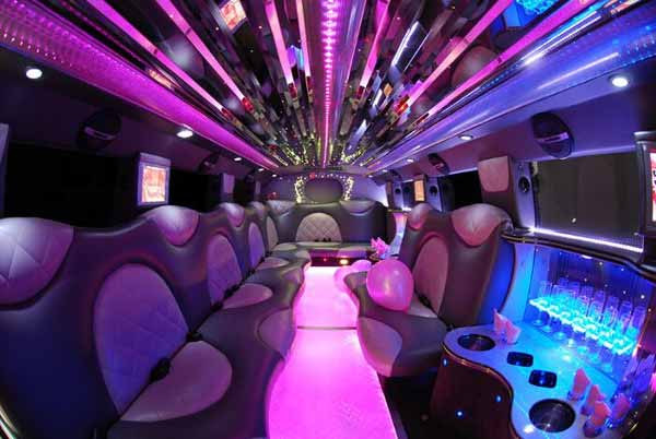 Cadillac Escalade limo interior knoxville